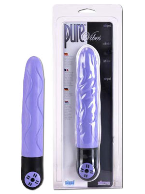 Vibrator Waterproof Pure Vibes Silicone Lavender, 23 cm
