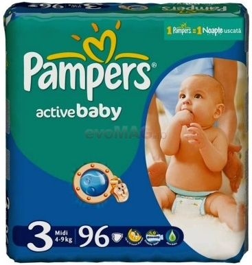 PAMPERS 3 ACTIVE BABY 4-9KG GP(96)